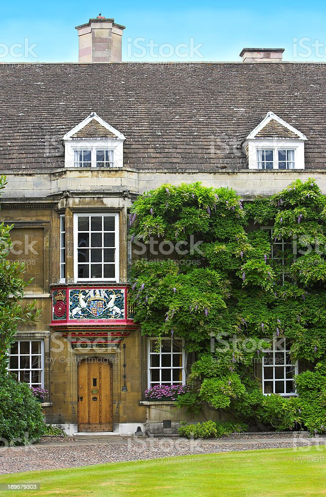 Cambridge University, England royalty-free stock photo