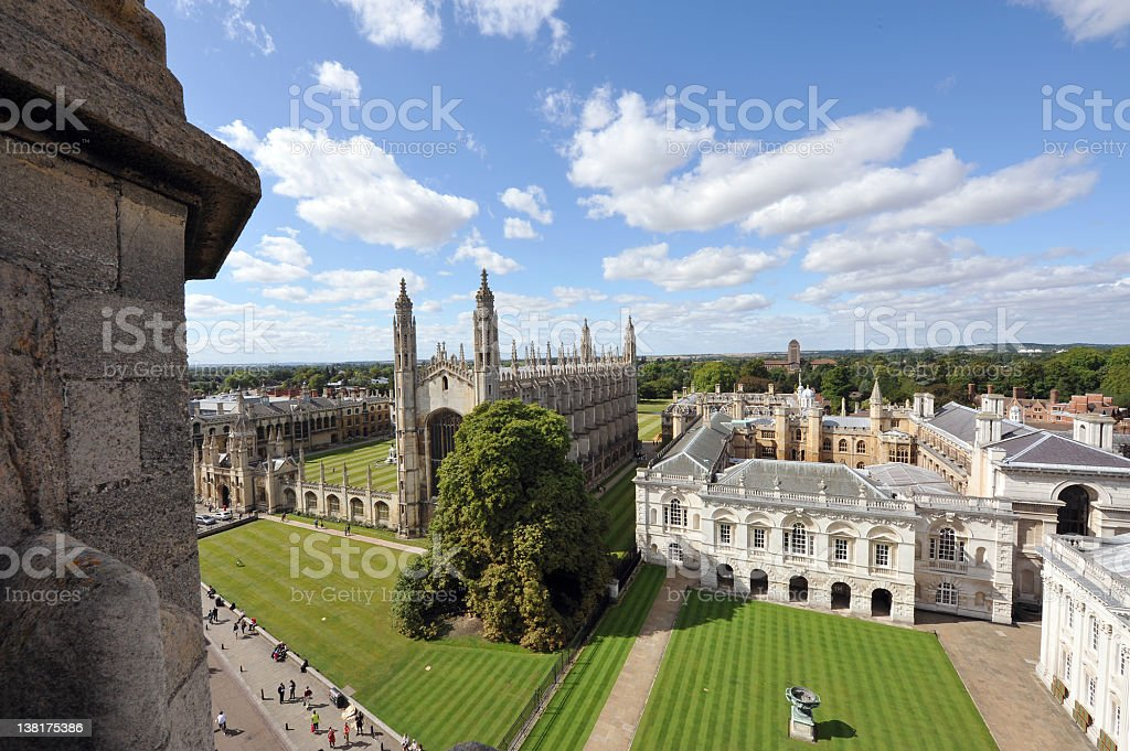 Cambridge University royalty-free stock photo