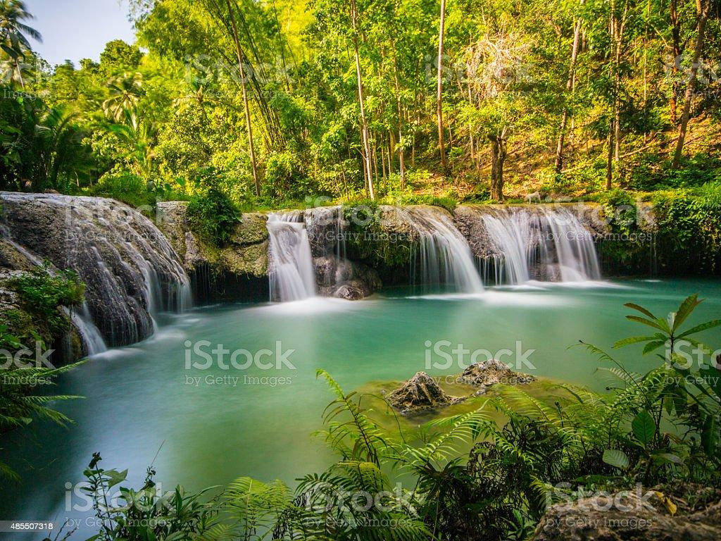 Cambugahay Falls in Siqujor Island stock photo