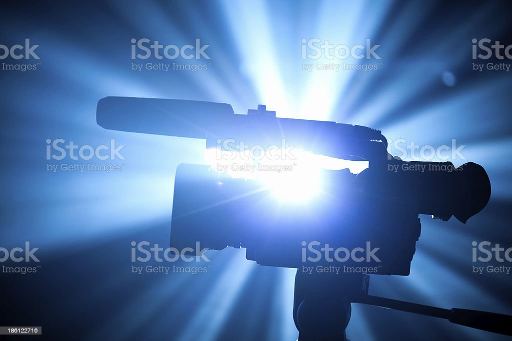 camcorder against the shiny background stock photo