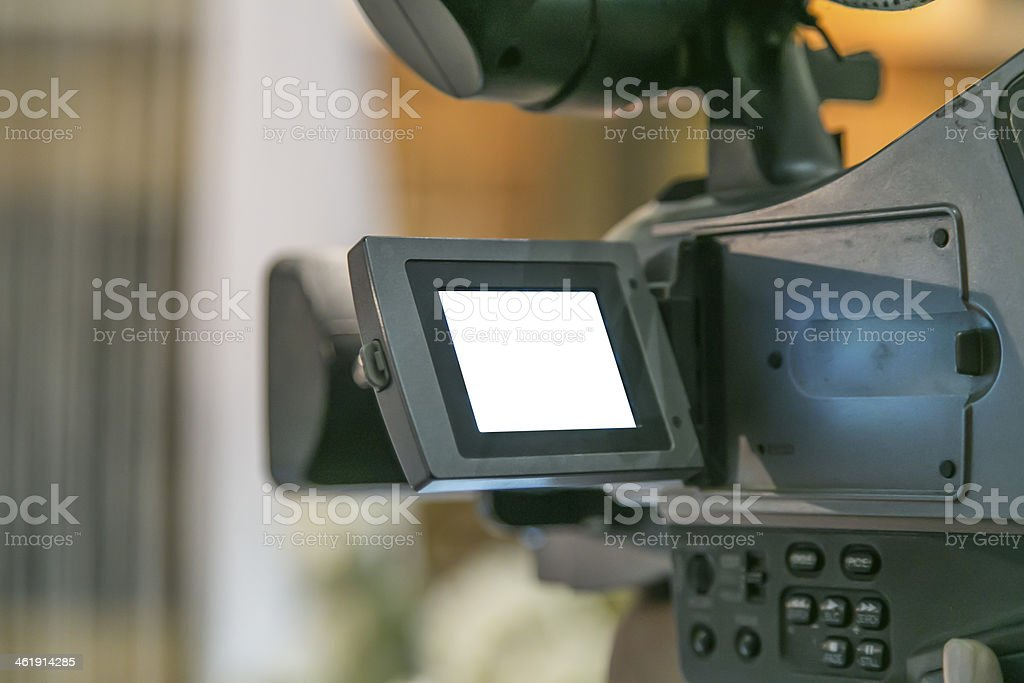 Camcorder at wedding royalty-free stock photo