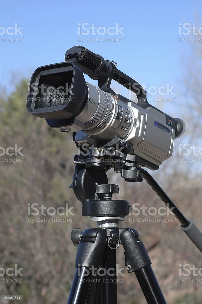Camcorder on a Tripod 2 royalty-free stock photo