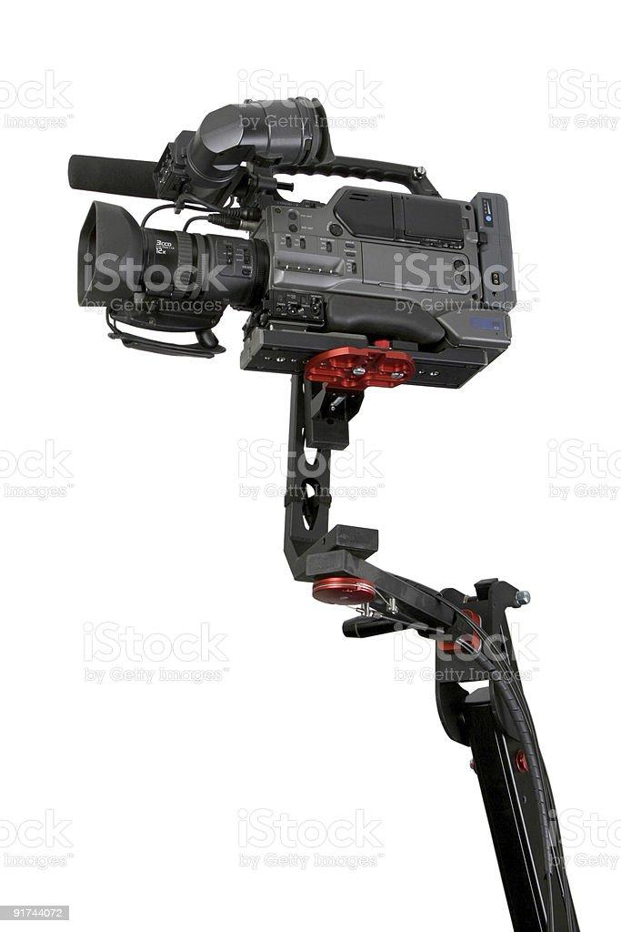 camcorder on crane stock photo
