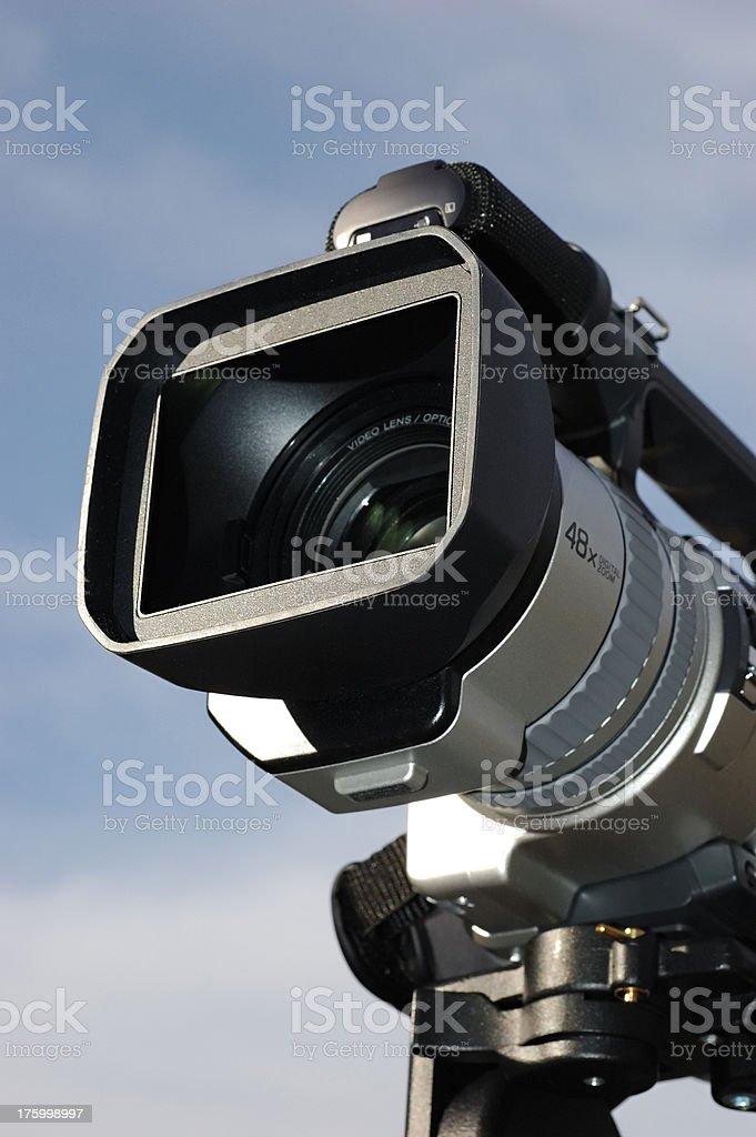 Camcorder on Pan-Tilt Head 2 stock photo
