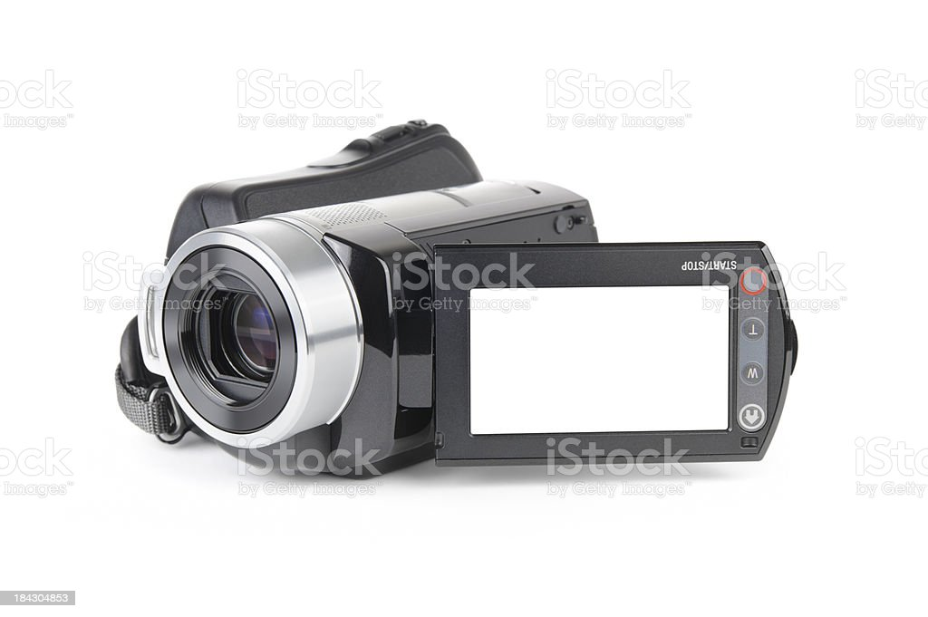 Camcorder on White Background stock photo