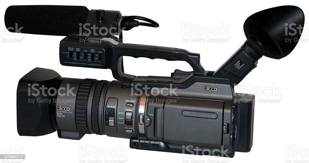 Camcorder - pro 3 chip MiniDV stock photo