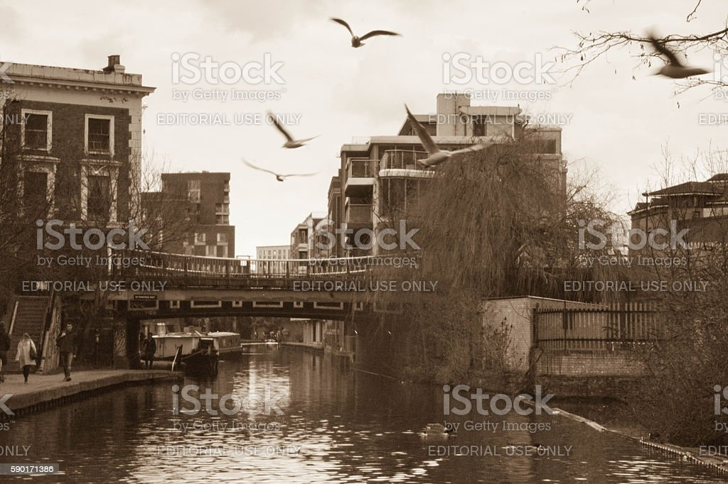 Camden canal stock photo