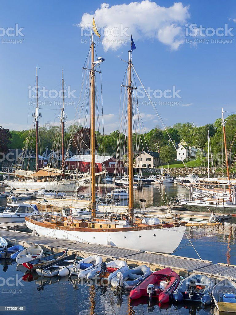 Camden Harbor royalty-free stock photo