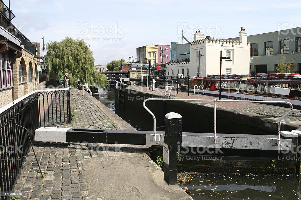 Camden Lock in London stock photo