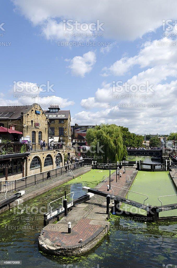 Camden Lock, London stock photo