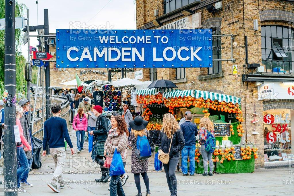 Camden Lock market in London, UK stock photo