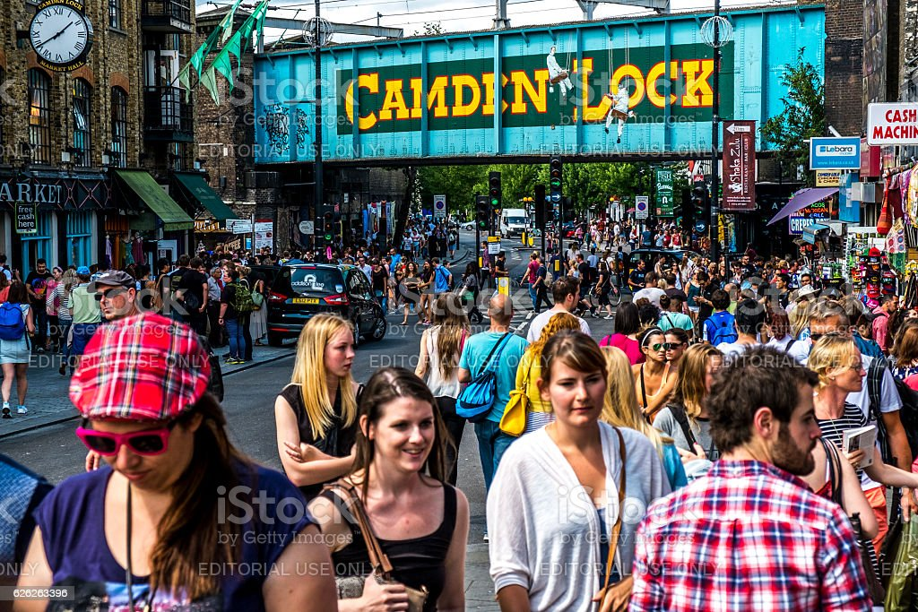 Camden Lock market stock photo