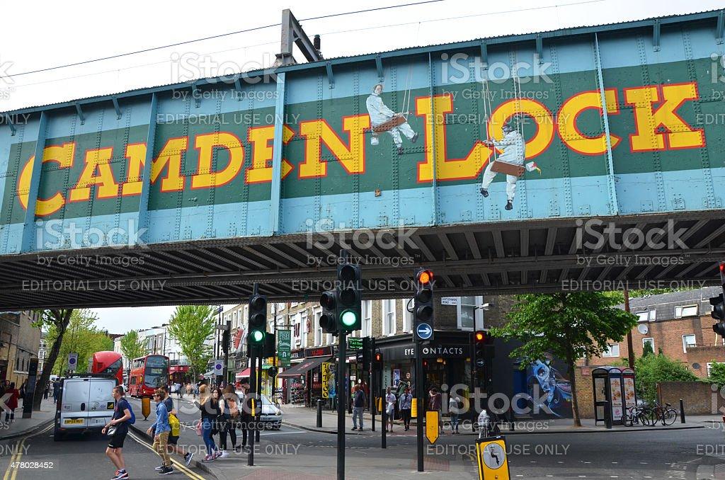 Camden Lock Sign stock photo