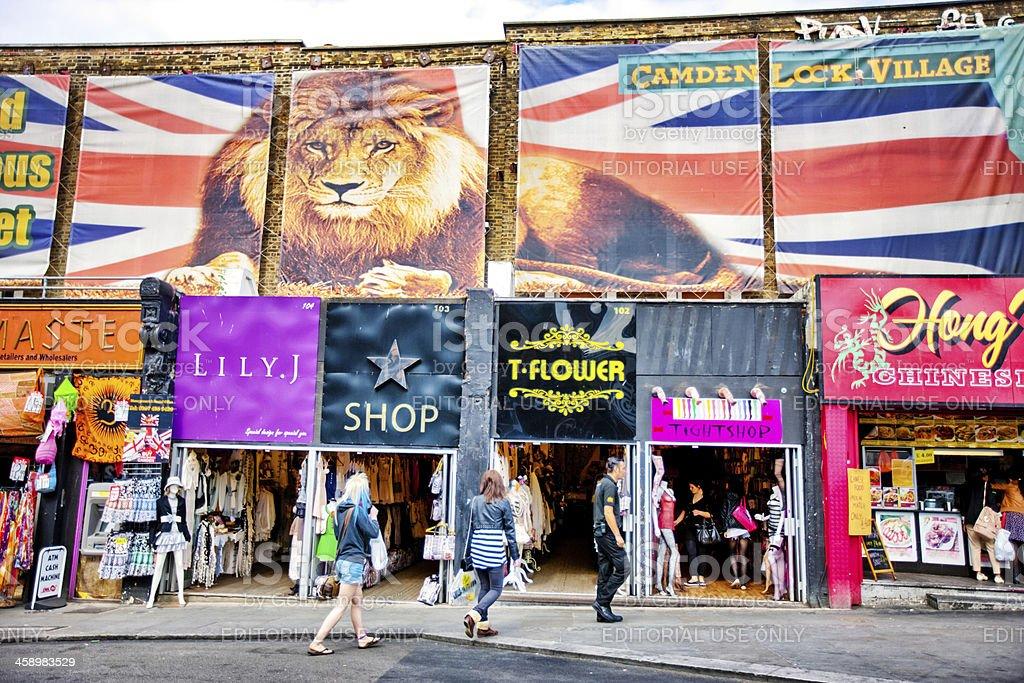 Camden Lock Village, London stock photo