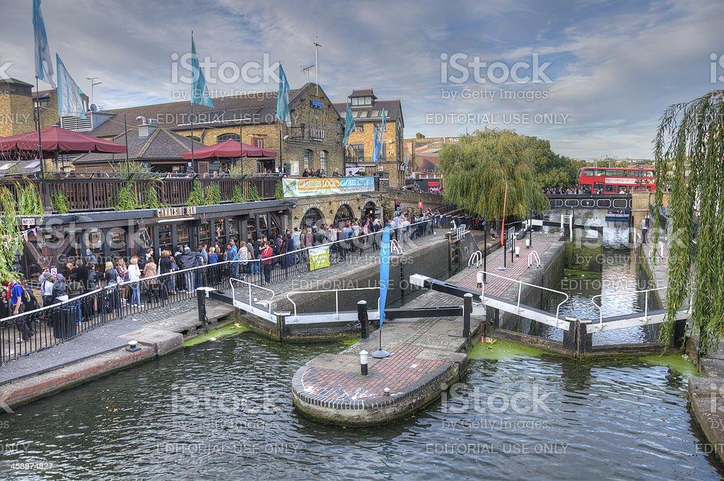 Camden Lock-Regent's canal-London stock photo