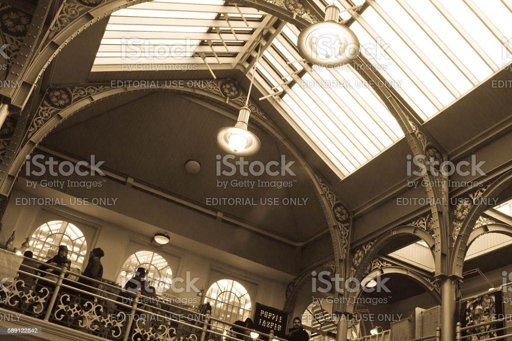 Camden Lower Market Hall stock photo