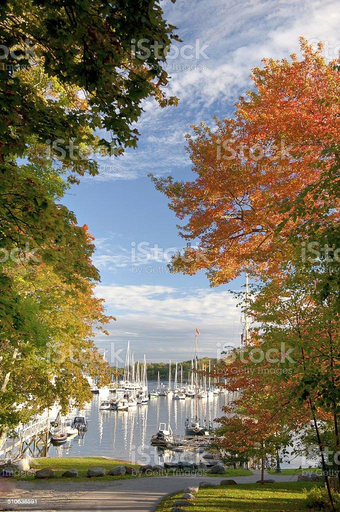 Camden, Maine  Harbor stock photo