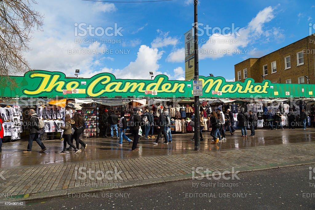 Camden Market in London stock photo