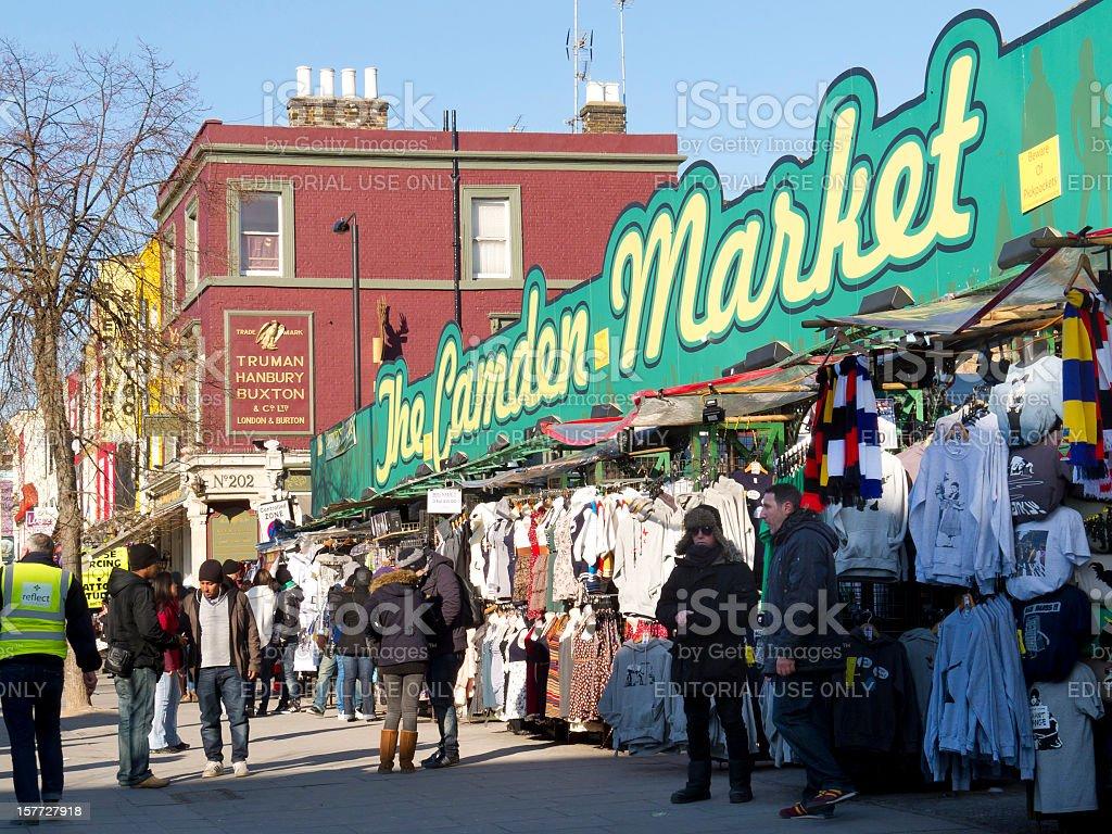 Camden Market, London stock photo