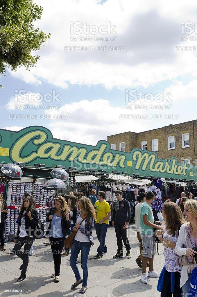 Camden Market sign, London stock photo