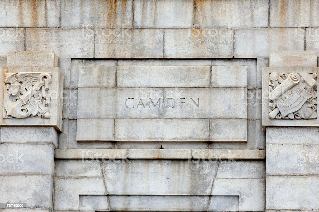 Camden on the Ben Franklin Bridge stock photo