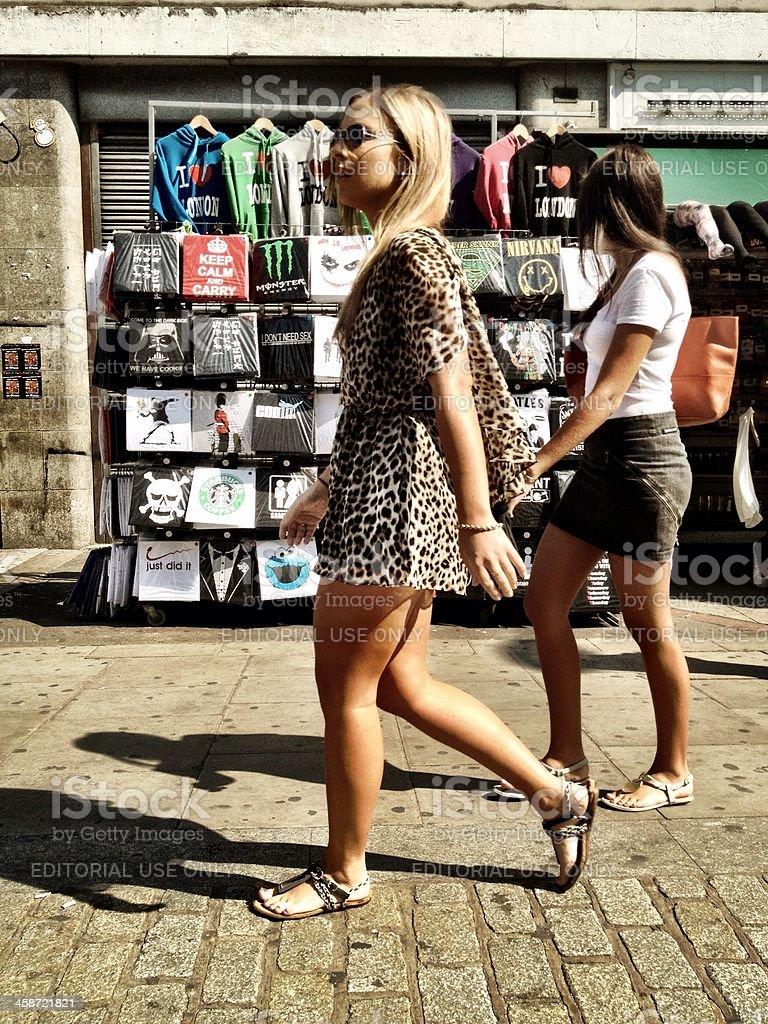 Camden shoppers, London, UK. stock photo