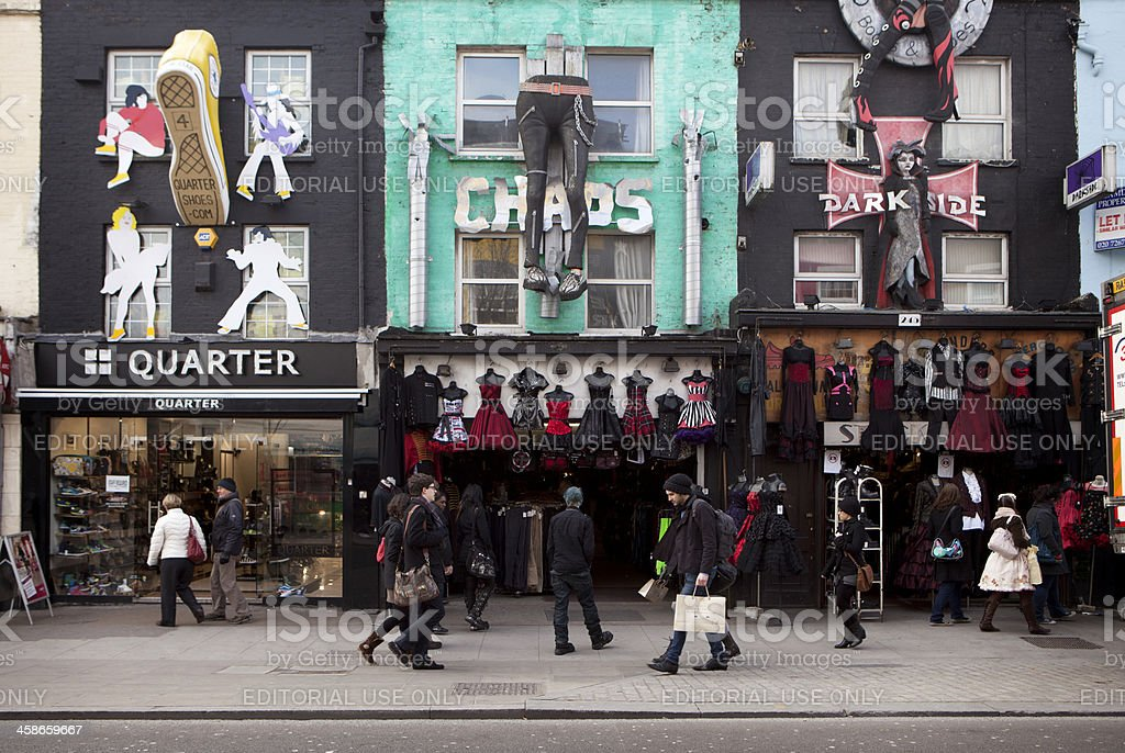 Camden shops, London. royalty-free stock photo