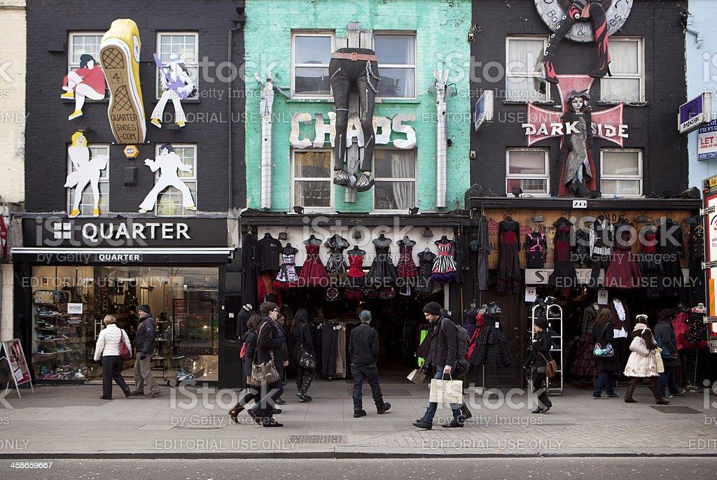 Camden shops, London. stock photo
