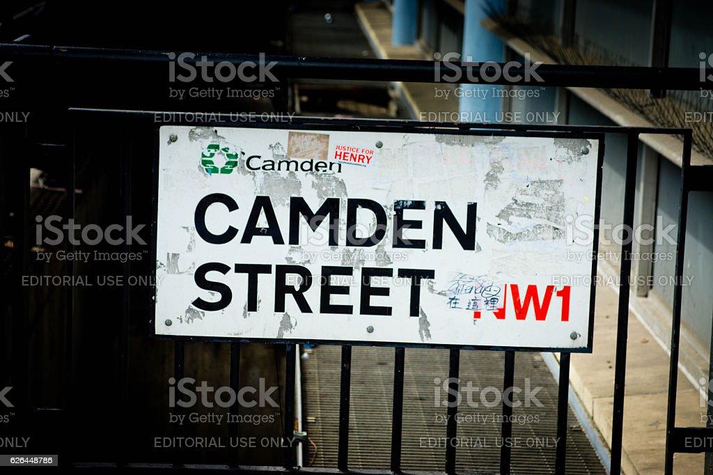 Camden Street Road sign stock photo