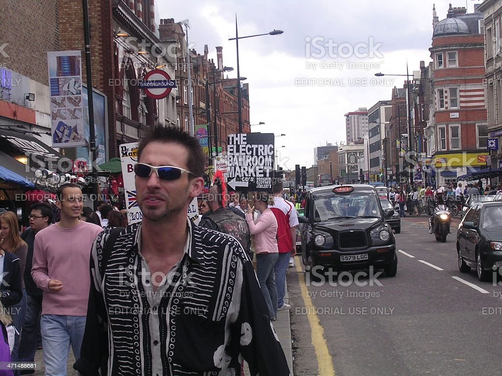Camden Town crowd royalty-free stock photo