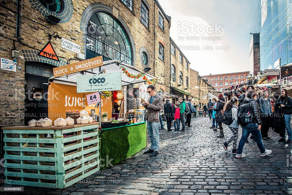 Camden Town London stock photo
