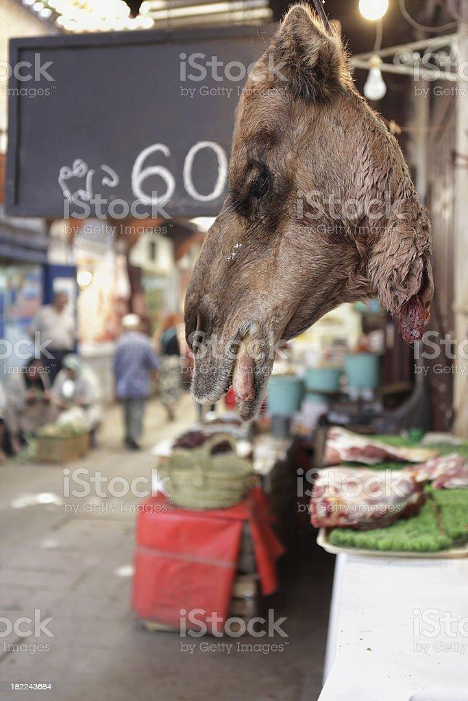 Camel Butcher Shop, Fez, Morocco royalty-free stock photo