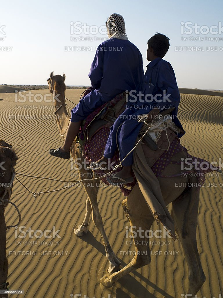 Camel drivers. stock photo