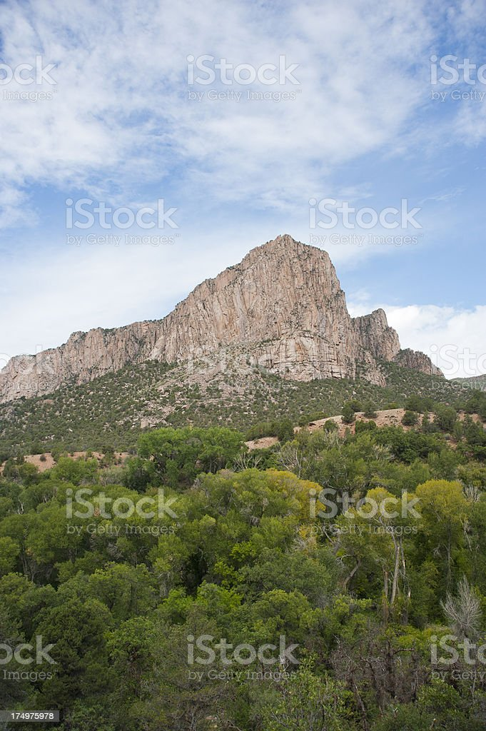 Camel Point and Unaweep Seep stock photo