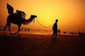 Camel Rider at Sunset, Clifton Beach, Karachi - Pakistan