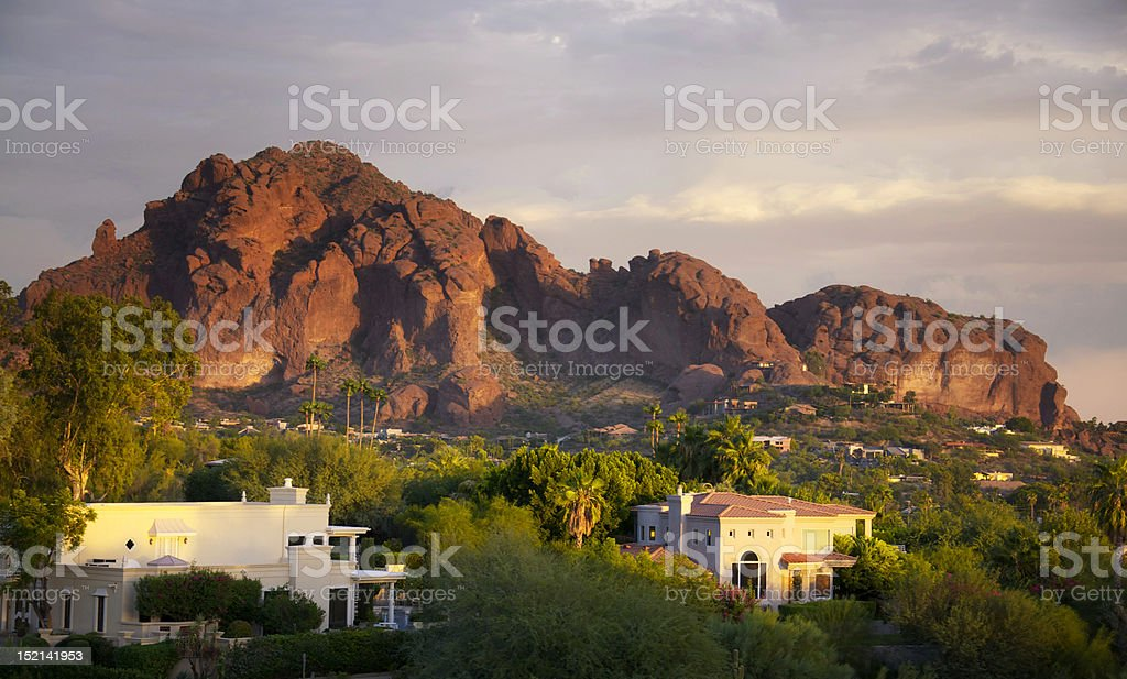 Camelback Mountain in Scottsdale, Arizona stock photo