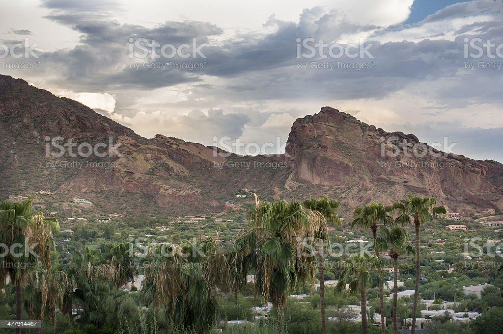 Camelback Mountain Phoenix Scottsdale Arizona royalty-free stock photo
