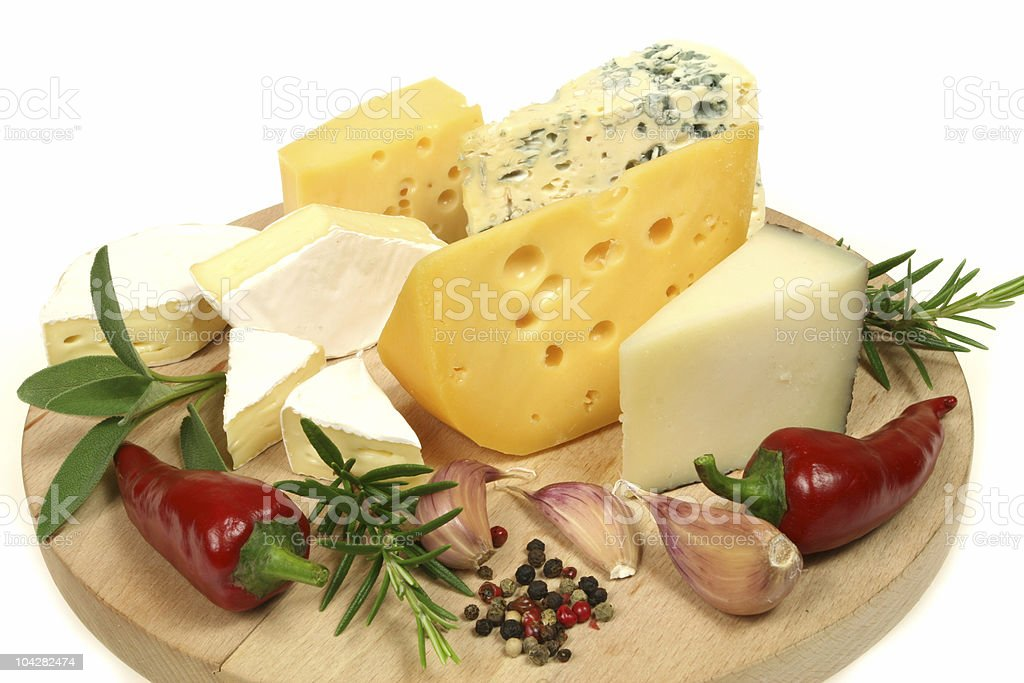 Camembert and other cheese stock photo
