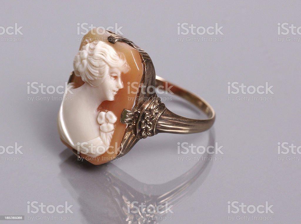 Cameo ring stock photo