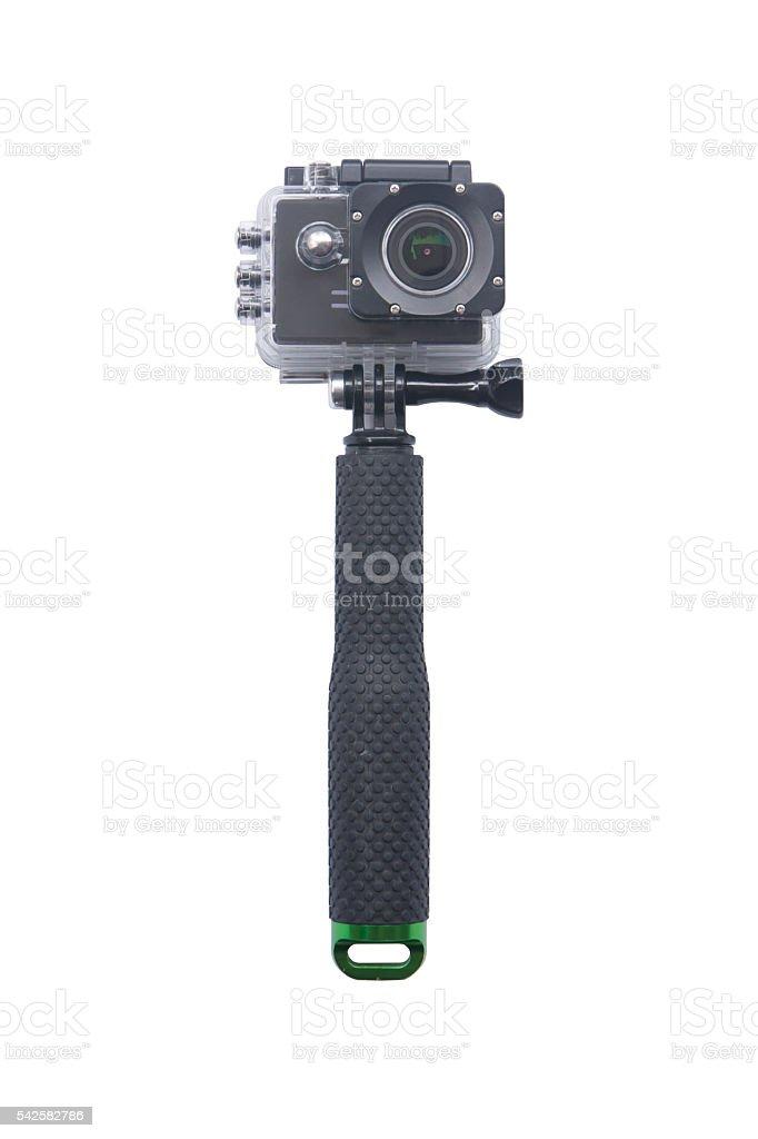 Camera Action Cam isolated on white background. stock photo