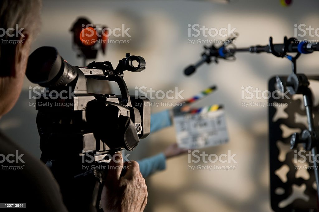 Camera and Slate 1 royalty-free stock photo