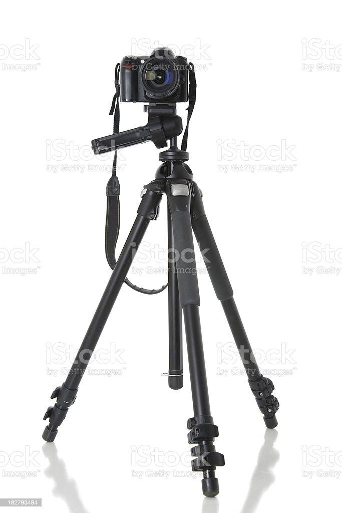 Camera and Tripod royalty-free stock photo