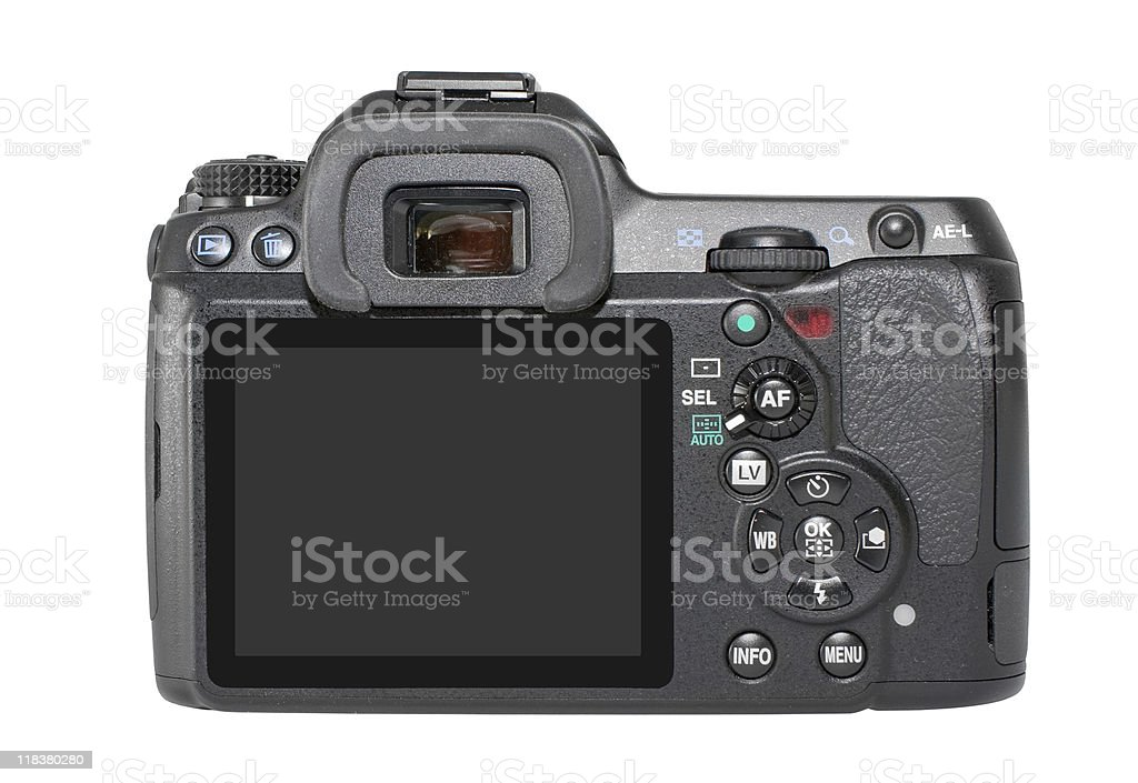 SLR Camera Back royalty-free stock photo