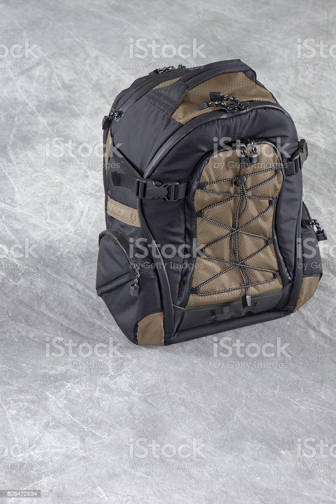 camera backpack stock photo