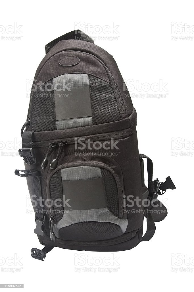 Camera bag stock photo