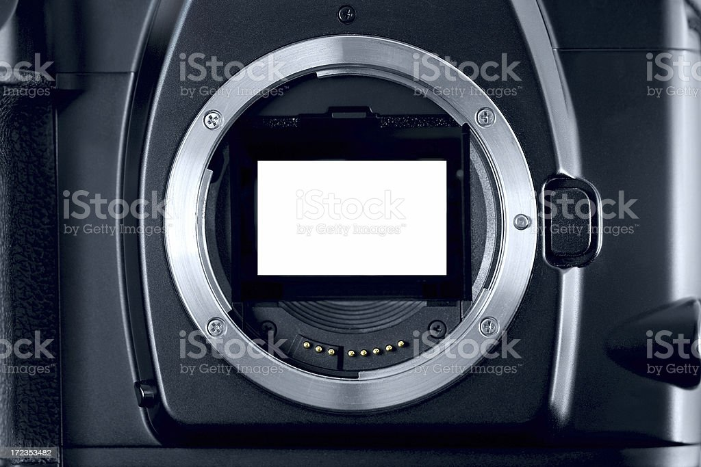 Camera Body Frame royalty-free stock photo