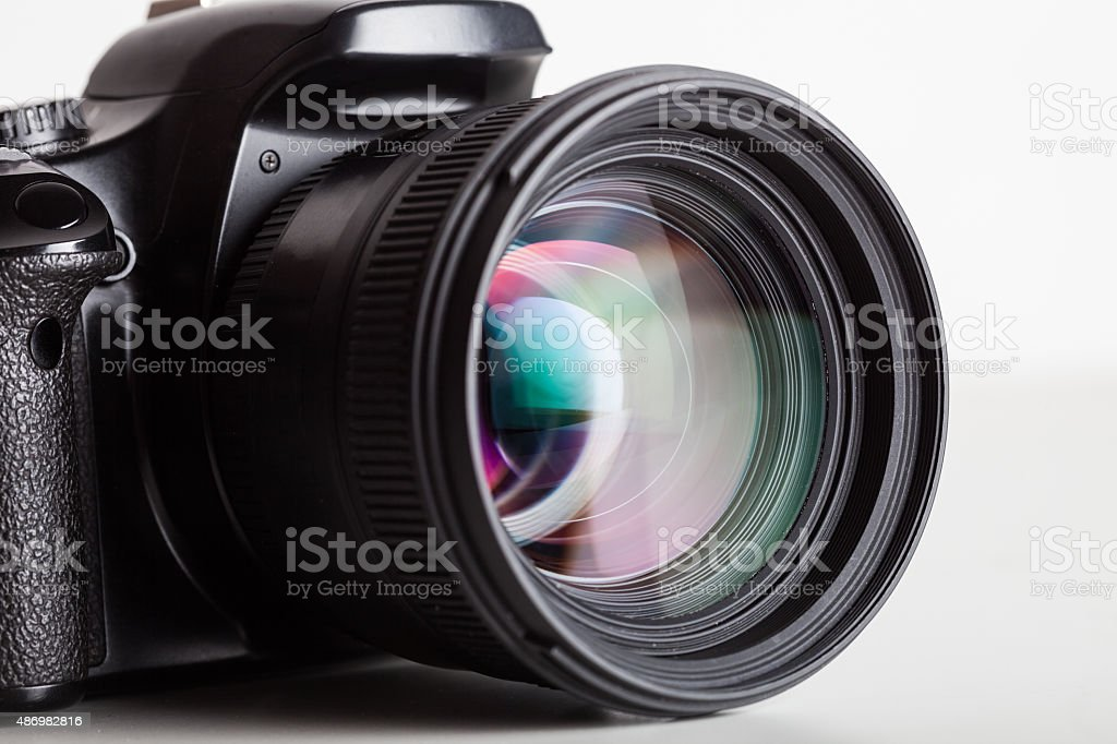 Camera close-up stock photo