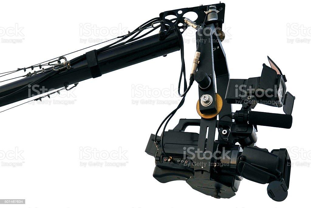 camera crane stock photo