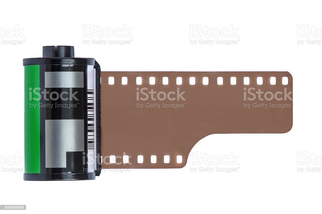 Camera Film Roll isolated on white background stock photo