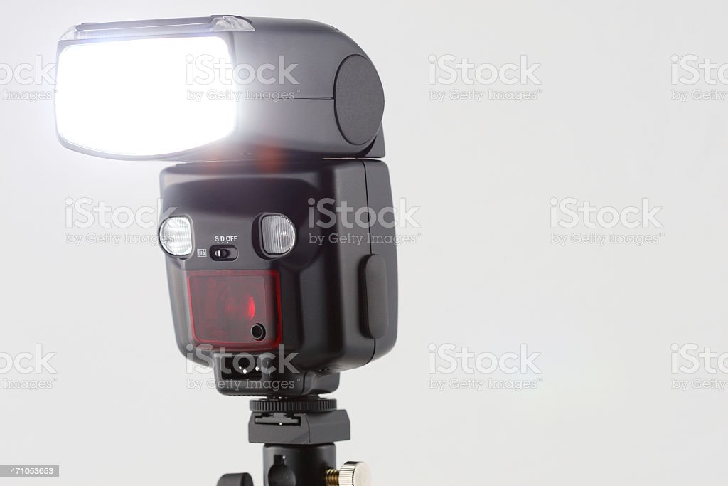 Camera Flash Firing stock photo